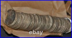 Weeda Canada Lot of 54 silver 1968 quarters including BU roll
